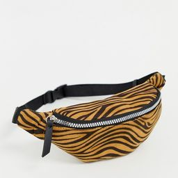 New Look zip detail fanny pack in zebra | ASOS US