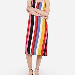 striped midi slip dress   Express