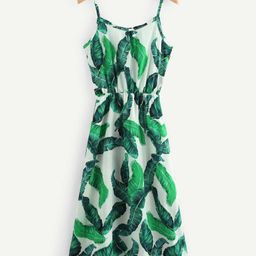 Tropical Leaf Print Cami Dress | SHEIN