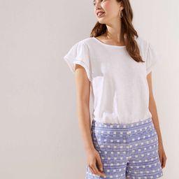 Geo Textured Riviera Shorts with 4 Inch Inseam   LOFT