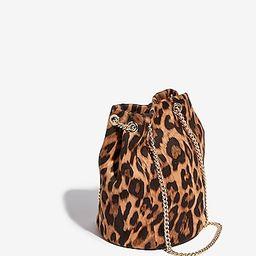 leopard chain handle bucket bag   Express