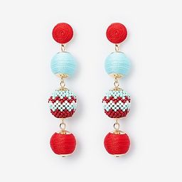 four tiered wrapped seed bead earrings   Express