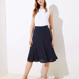 Dotted Godet Midi Skirt   LOFT