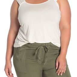 14th & UnionShirred Scoop Neck Tank (Plus Size)   Nordstrom Rack