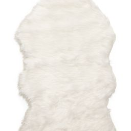 Faux Sheep Skin Fur Scatter Rug   TJ Maxx