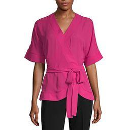 Worthington Womens V Neck Short Sleeve Blouse | JCPenney
