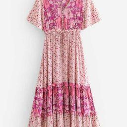 Ditsy Floral Frill Trim Dress | SHEIN