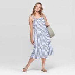 Women's Sleeveless  U-Neck Midi Tiered Dress - Universal Thread™ Red   Target
