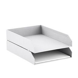 Bigso White Stockholm Stackable Letter Trays Set of 2 | The Container Store