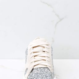 Getting Better Silver Glitter Sneakers   Red Dress