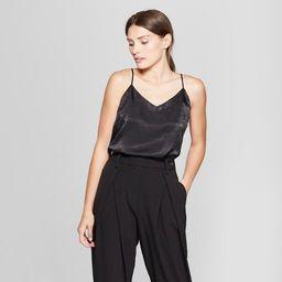 Women's Sleeveless V-Neck Essential Woven Cami Tank Top - Prologue™   Target