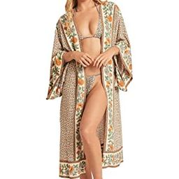 Women's Summer Blouse Loose Kimono Floral Print Cardigan Chiffon Beachwear Dress | Amazon (US)