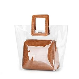 FANCY LOVE Classy Waterprof Clear Tote Beach Shoulder Crossbody Bag | Amazon (US)