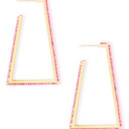 Easton Gold Hoop Earrings in Hot Pink Kyocera Opal | Kendra Scott | Kendra Scott