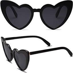 Heart Shaped Sunglasses Clout Goggle Vintage Cat Eye Mod Style Retro Glasses Kurt Cobain | Amazon (US)