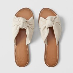 Knot Slide Sandals | Abercrombie & Fitch US & UK