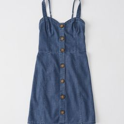 Button-Up Cami Chambray Dress | Abercrombie & Fitch US & UK