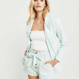 Paperbag Waist Linen Shorts | Abercrombie & Fitch US & UK