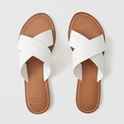 Strappy Slide Sandals | Abercrombie & Fitch US & UK