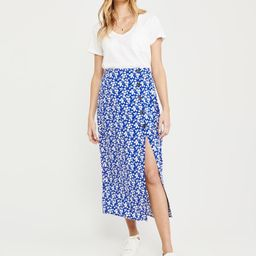 Button-Front Maxi Skirt | Abercrombie & Fitch US & UK