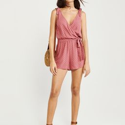 Wrap-Front Romper | Abercrombie & Fitch US & UK