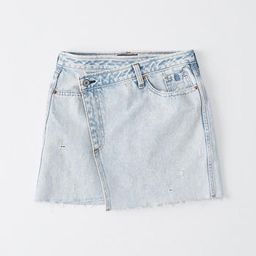Wrap-Front Denim Mini Skirt | Abercrombie & Fitch US & UK