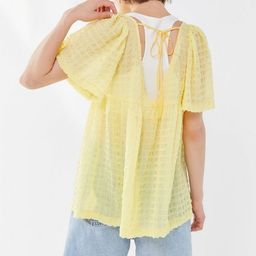 UO Helena Crinkle Short Sleeve Babydoll Top   Urban Outfitters (US and RoW)