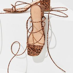 UO Alexa Leopard Strappy Sandal | Urban Outfitters (US and RoW)