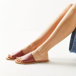 UO Soft Leather Slide Sandal | Urban Outfitters (US and RoW)