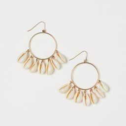 Earrings with Shells - Gold-colored/white - Ladies | H&M US | H&M (US)