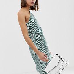 Unique21 one shoulder striped dress   ASOS US