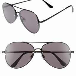 60mm Oversize Mirrored Aviator Sunglasses   Nordstrom