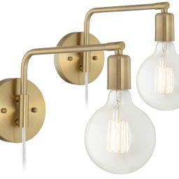 Amara Antique Brass Wall Lamp Set of 2-360 Lighting | Amazon (US)