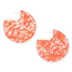 Kai Gold Hoop Earrings in Peach Acetate | Kendra Scott | Kendra Scott