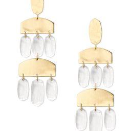 Emmet Gold Statement Earrings in Clear Glass  | Kendra Scott | Kendra Scott