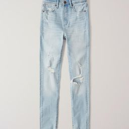 Ripped High Rise Super Skinny Ankle Jeans   Abercrombie & Fitch US & UK
