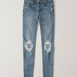 Ripped Low Rise Super Skinny Jeans   Abercrombie & Fitch US & UK
