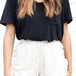 Betsy Ruffled Linen Shorts | Dress Up