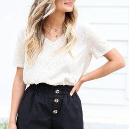 Devyn Paperbag Waist Linen Shorts   Dress Up