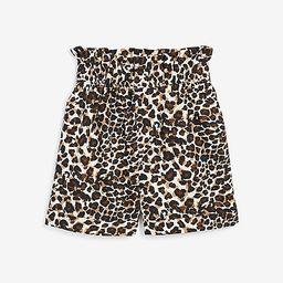 rocky barnes printed high waisted linen-blend shorts   Express