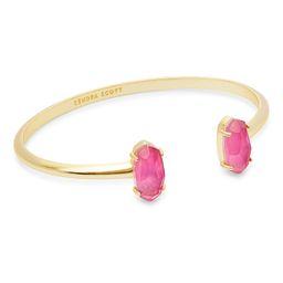 Edie Gold Cuff Bracelet in Azalea Illusion   Kendra Scott   Kendra Scott