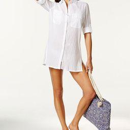 Lauren Ralph Lauren Semi-Sheer Tunic Cover Up  & Reviews - Swimwear - Women - Macy's | Macys (US)