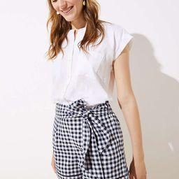 Gingham Tie Waist Shorts | LOFT
