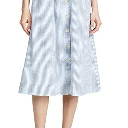 Madewell                                    Midi A-Line Button Front Skirt   Shopbop
