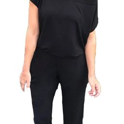 Alelly Women's Sexy Off Shoulder Elastic Waist Beam Foot Jumpsuit Rompers   Amazon (US)