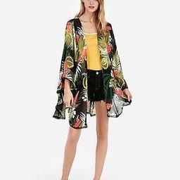 floral v-back cover-up | Express