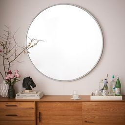"Metal Framed 48"" Round Mirror | West Elm (US)"