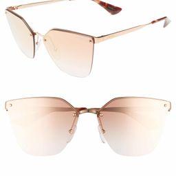 63mm Mirrored Gradient Oversize Sunglasses   Nordstrom
