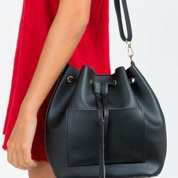Emilia Bucket Bag Black | Princess Polly