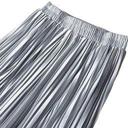 Women's Pleated Elastic High Waist Summer Casual Flowy Midi Skirt | Amazon (US)